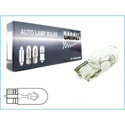 STOCK da 10 Lampade Alogene T10 W5W 12V 5W (Tutto Vetro)