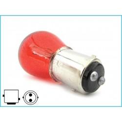 STOCK da 10 Lampade Alogene S25 P21/5W BAY15D 12V 21/5W Rosso Doppio Filamento