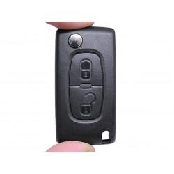 Chiave Telecomando Completa per Peugeot 207 ( HASTA 2009 ) 307 ( 2005 - ) 308 ( 2008 - 2010 )  CE0536 Transponder 46 PCF7961/43