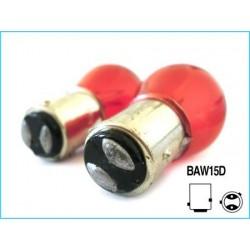 2 Lampade Alogena PR21/5W BAW15D Asimmetrica 12V 21/5W Colore Rosso Carall