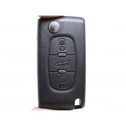 Chiave Telecomando Completa per Peugeot 308 SW ( HASTA 2009 ) 207 SW ( HASTA 2009 )  308 SW ( 2008 - 2010 ) Transponder 46 PCF7