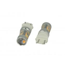Lampada Led T25 3157 P27/7W Dual Color Bianco + Arancione 28 Smd 2835 Luci Frecce Ford
