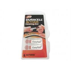 Pila Batteria a Bottone Duracell EasyTab PR41 Zinco-Aria 1,45V Per Apparecchi Acustici Confezione Da 6 Pile
