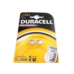 Pila Batteria Alkaline A Bottone Duracell LR43 186 KA43 1,5V Confezione Da 2 Pile