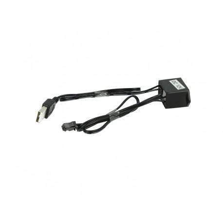 Alimentatore Trasformatore Con USB 5V Per Stringa EL Striscia Neon Led