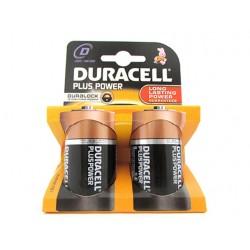 Pila Batteria Duracell Alkaline LR20 MN1300 Plus Tipo Torcia D 1,5V Confezione Da 2 Pile