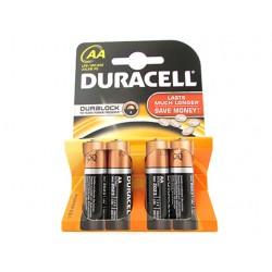 Pila Batteria Duracell Alkaline LR6 MN1500 Tipo Stilo AA 1,5V Confezione Da 4 Pile