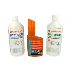 WARM UP Ricarica Chimica Per Kit Pulizia FAP 1 Pulizia DCF1000 + 1 Risciacquo DFF1000 + 1 Additivo DR300 Per Officina e Profess