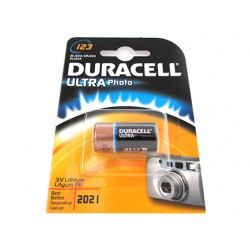 Pila Batteria Duracell Lithium Litio DL123A CR123A EL123A CR17345 3V Ultra Photo M3 Per Fotocamere Digitali