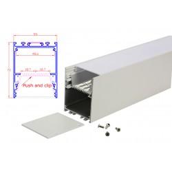 Profilo Alluminio Moderno Colore Bianco Per Fare Plafoniera Led Lineare 1 Metro