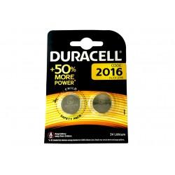 Pila Batteria Lithium A Bottone Duracell Litio 2016 DL2016 CR2016 BR2016 3V Per Dispositivi Elettronici Confezione da 2 Pile