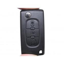 Guscio Chiave Telecomando 3 Tasti Con Lama NE72 Batteria In Custodia Senza Transponder Per Peugeot 107 106 206 207 407 806 Citr
