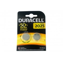 Pila Batteria Lithium A Bottone Duracell Litio 2025 DL2025 CR2025 ECR2025 3V Confezione Da 2 Pile