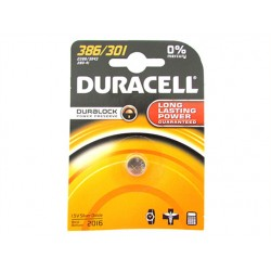 Pila Batteria Lithium A Bottone Duracell Litio 386 301 D386 SR43 280-41 1,5V