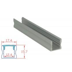 Profilo Canalina Barra Alluminio Led Anodizzato Quadrato Profondo Per Striscia Bobina Led Super Luminoso 1 Metro
