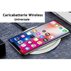Caricabatterie Wireless Veloce Bianco 10W Slim QI per iPhone 8 iPhone 8plus iPhone X iPhone XL Samsung S6 S6 edge Note 5 LG G3