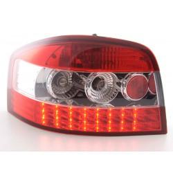 AUDI A3 posteriori LED chiaro/rosso 03 a 05
