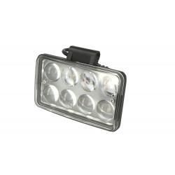 Fanale Rettangolare 24W Doppia Luminosita Hi Low Led Work Light Spot Lente Ingrandimento 4D Faro Da Lavoro 9V-60V IP67 Bianco