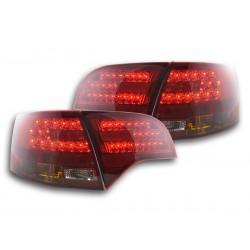 Audi A4 LED 04 a 08 rosso nero