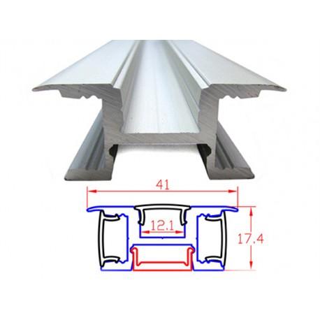 Profilo Canalina Barra Alluminio Led Illuminazione Da 3 Lati Direzioni Muro Parete 1 Metro