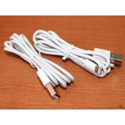 2 Pezzi Cavo USB Dati Ricarica Per Iphone Colore Bianco 1 Metro