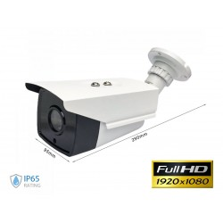 Telecamera di Videosorveglianza IP Camera LAN RJ45 IP65 Esterno Con Sensore IR Full Color Con 4 Led SKU-8479