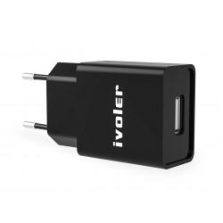 Caricatore USB Veloce Fast Charger Caricabatteria Alimentatore 5V 2,4A Colore Nero