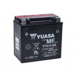 Batteria Moto YUASA YTX14-BS Con Acido 12V 12Ah 200A