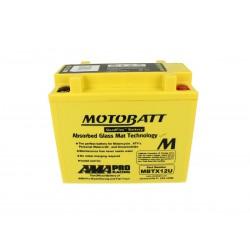 Batteria Moto MOTOBATT MBTX12U 12V 14,0Ah CCA 200 Compatibile Yuasa YB12B-BS YTX12-BS YTX14-BS YTX14H-BS YTX14L-BS KMX14-BS YTX