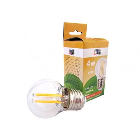 Lampada Filo Led a Filamento Zaffiro Sintetico E27 G45 4W 360 Gradi Bianco Caldo 2700K Bulbo Piccolo Sfera