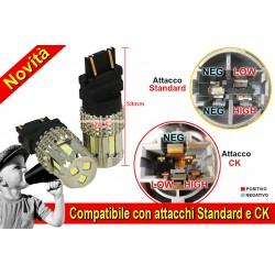 Lampada Led 3157 T25 12V 45W Bianco No Polarita Super Luminoso Compatibile Con Attacco CK Auto Americano