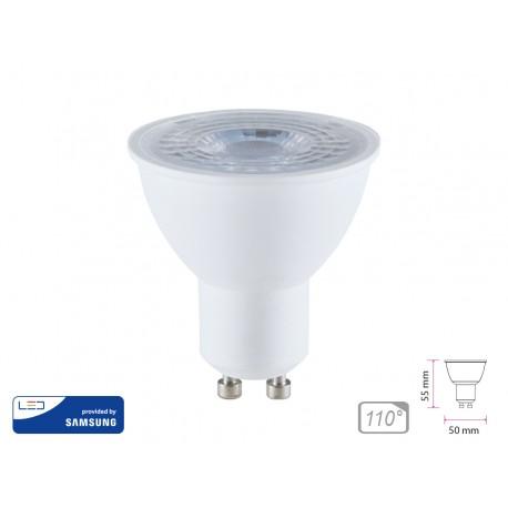 Lampada Led GU10 8W 220V 110 Gradi Neutro 4000K Chip Samsung Garanzia 5 Anni Angolo Larga SKU-873