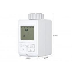 Termostato Digitale Programmabile con Sensore Valvola Per Termosifone Ad Acqua Alimentato da 3 Pile AA