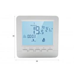 Termostato Digitale Con Tasti Programmabile Per Caldaia A Gas Murale Da Parete Alimentato Con 2 Pile AA