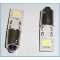 Lampada Led Canbus BAX9S H6W 2 Smd No Errore Piedi Storti