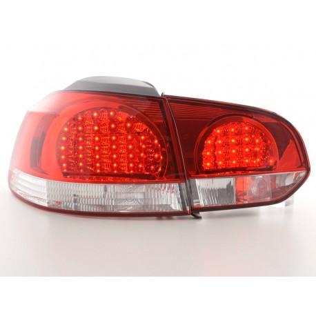 Golf 6 posteriori LED rosso chiaro