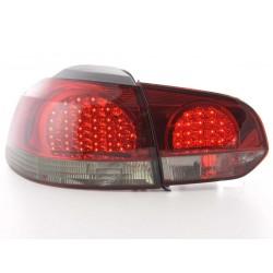 Golf 6 posteriori LED rosso nero