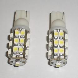 Lampada Led T10 W5W 25 Smd Bianco Luci di Posizione 12V