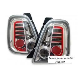 POSTERIORI LED FIAT 500 cromato