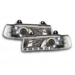 BMW E36 Berlina con Luci LED Daylight Cromato