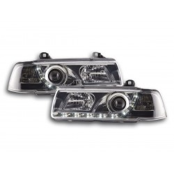 BMW E36 Berlina con Luci LED Daylight Nero