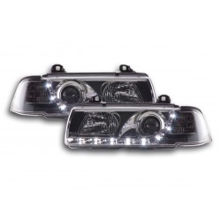 BMW E36 Coupè con Luci LED Daylight Cromato