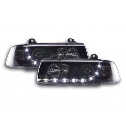 BMW E36 Coupè con Luci LED Daylight Nero