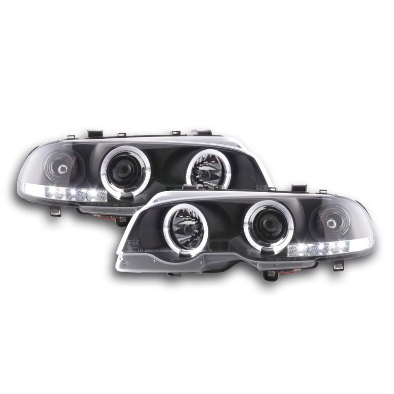 bmw e46 coupe cabrio 98 02 con angel eyes nero. Black Bedroom Furniture Sets. Home Design Ideas