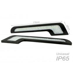 Luci Diurne Led DRLs Driving Light 12V 5W Forma L Slim Solo 5mm IP65 Universale