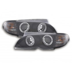BMW E46 Berlina/Station Wagon 02-05 con Angel Eyes nero