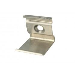 Clip Guida Gancio PC Per Fissaggio a Muro Del Profilo Alluminio Slim Angolare BA1616