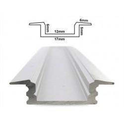 Profilo Canalina Barra Alluminio Led Anodizzato Quadrato Da Incasso Slim Per Striscia Led Fino a 12mm 1 Metro