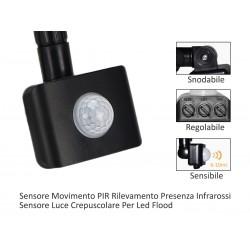 Sensore Movimento PIR Rilevamento Presenza Infrarossi Sensore Luce Crepuscolare Per Led Flood