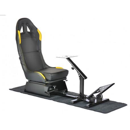 Simulatore Sediolino Nero/giallo EGAMING